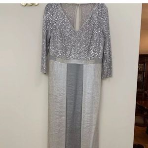 Kay infer silver sequined dress